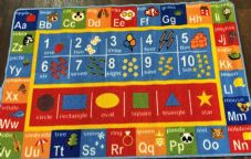 NEW  MULTI LEARNING EDUCATIONAL SCHOOL MATS/RUGS 80X120CM ALPHABET NON SLIP.